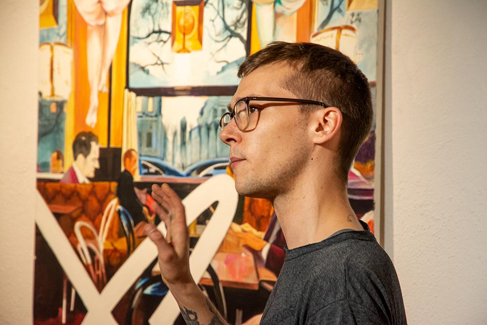 Ausstellung Eröffnung Merlin Dickie_DisAster_Galerie Frank Wien_02
